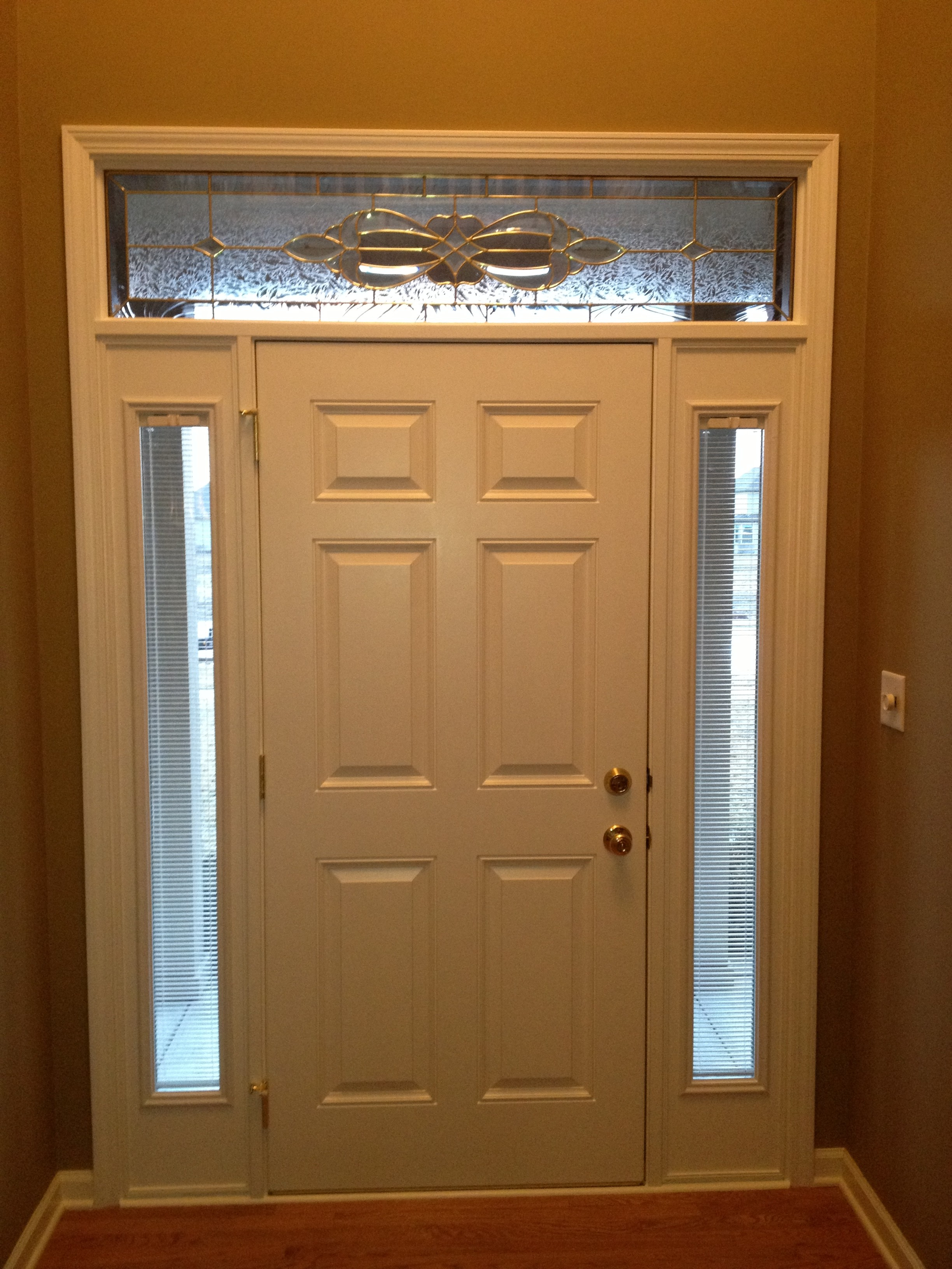 Advance home remodelers services montgomery illinois for Front door with window on top