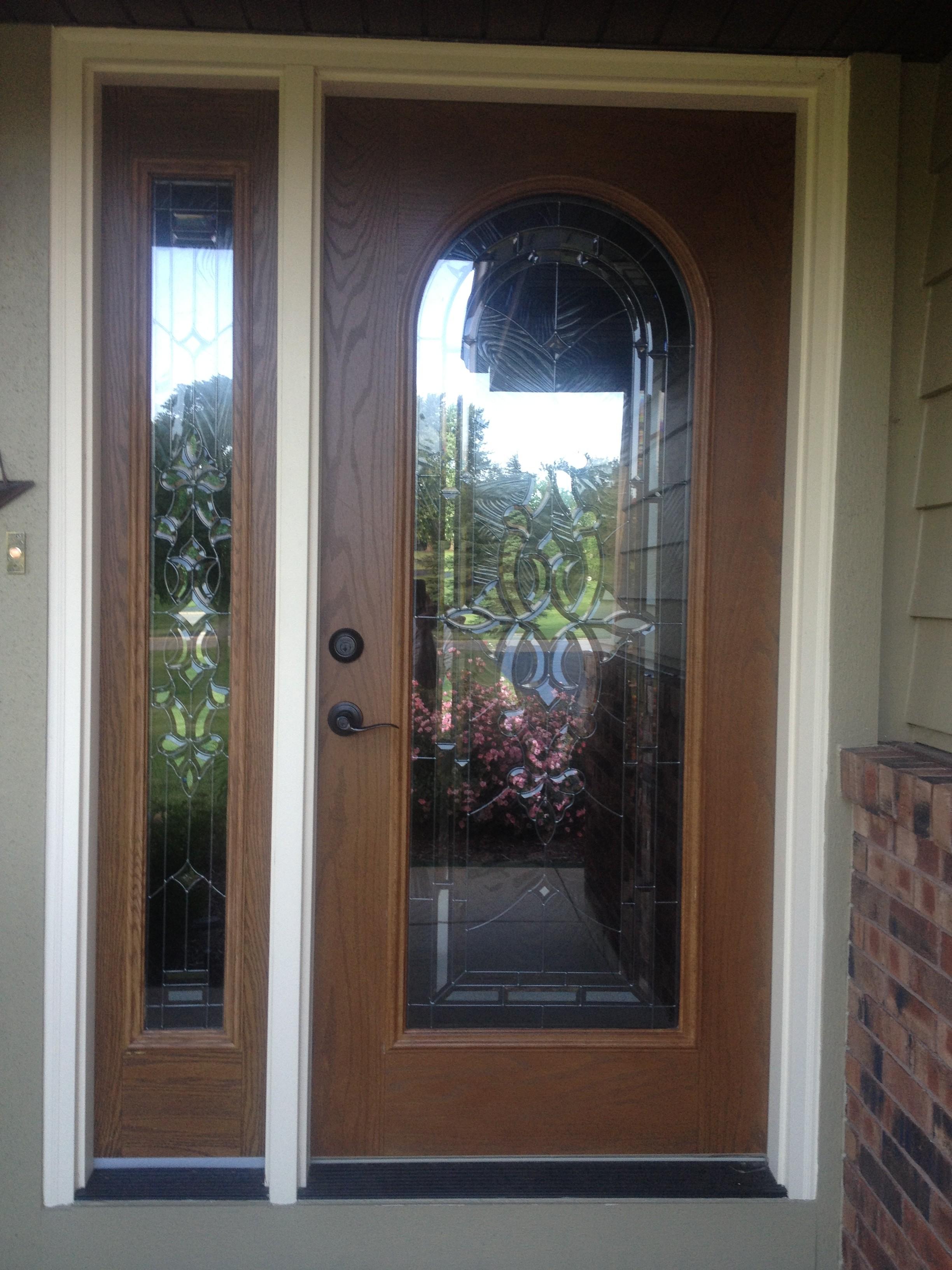 3264 #5F4738 Front Door Install pic Front Doors Installed 47012448